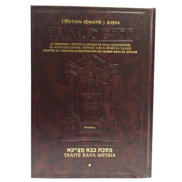 traité Bava Metsia- la Guemara édition Edmond j Safra, artscroll