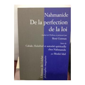 Nahmanide de la perfection de la loi René Gutman