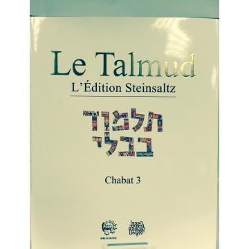 Le Talmud .L' édition Steinsaltz. CHABAT 3